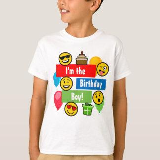 Emoji födelsedagpojke tshirts