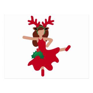 emoji för julaftonflamencodansare vykort