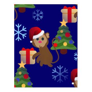 emoji för santa julapa vykort