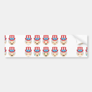 emoji för uncle sam bildekal