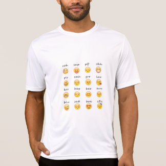Emoji känsla t shirt