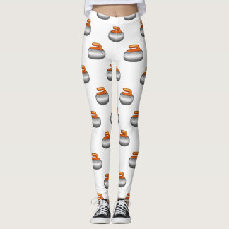 Emoji krullande stendamasker leggings