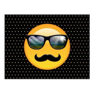 Emoji toppen skuggig ID230 Vykort