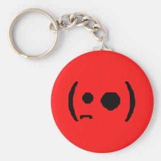 (•,emote den stora synade petade kanten för ̪●) an rund nyckelring