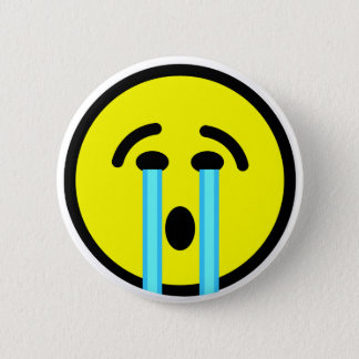emoticon för skrikskrikskrik standard knapp rund 5.7 cm
