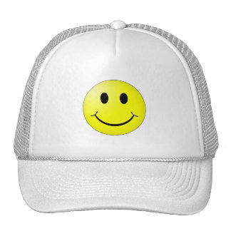 Emoticon för Smiley för gult för 80-talpopkultur Keps