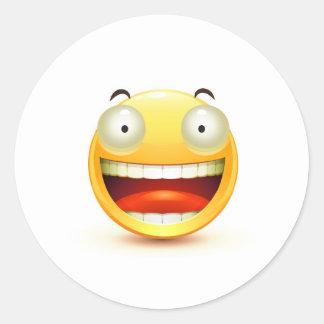 Emoticon Runt Klistermärke