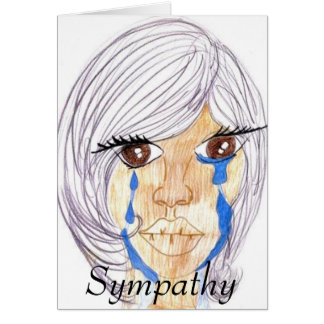Emotionellt sympati hälsningskort