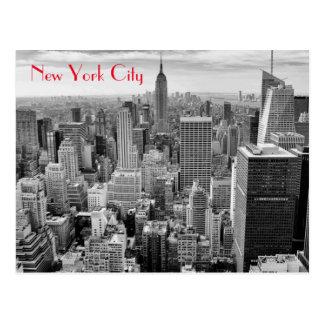 Empire state som bygger svart vit New York City Vykort