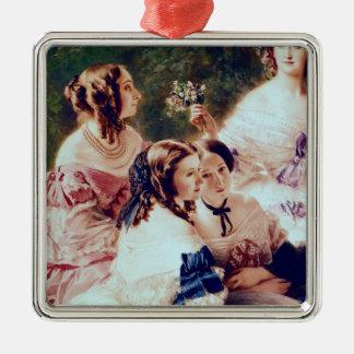 Empress Eugenie och henne damer, i att vänta Julgransprydnad Metall