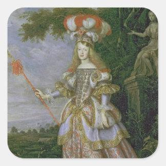 Empress Margaret Theresa Fyrkantigt Klistermärke
