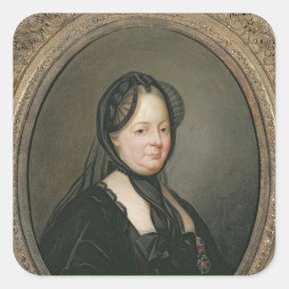 Empress Maria Theresa av Österrike Fyrkantigt Klistermärke