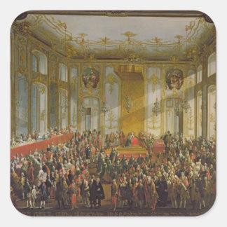 Empress Maria Theresa Fyrkantigt Klistermärke