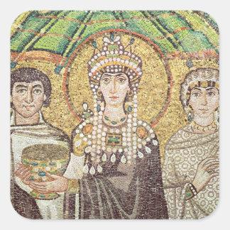 Empress Theodora Fyrkantigt Klistermärke