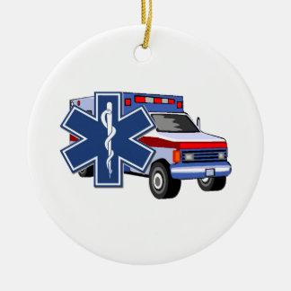 Ems-ambulans Julgransprydnad Keramik