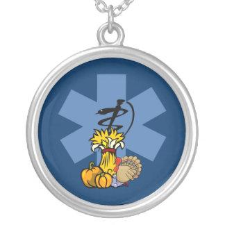 Ems-thanksgiving för EMT och sjukvårdare Silverpläterat Halsband