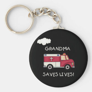 EMT-mormodern sparar liv Rund Nyckelring