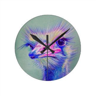 Emufågel Rund Klocka