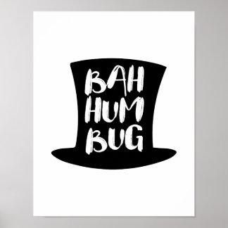 En affisch för helgdag för julsångBah Humbug