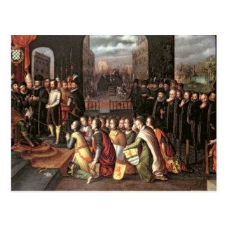 En allegori av tyrannyen av hertigen av Alba Vykort