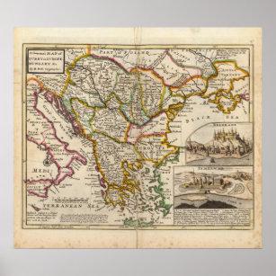 Karta Europa Turkiet.Turkiet I Europa Konst Vaggdekor Zazzle Se