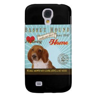 En älska Bassethund gör vårt hushem Galaxy S4 Fodral