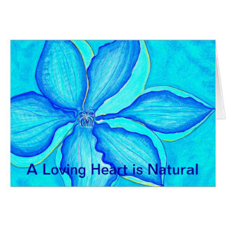 En älska hjärta är naturlig hälsningskort