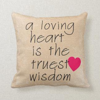 En älska hjärta kudder med hjärta kudde