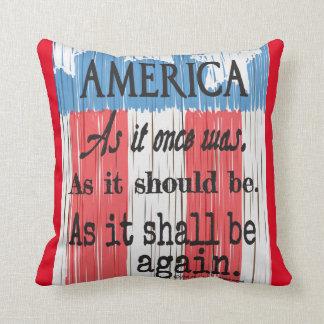 """En amerikanrostat bröd"" dekorativ kudde "","