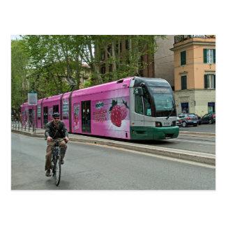 En annan spårvagn i Rome Vykort