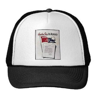 En annan stjärna tillfogas, armémarinen baseball hat