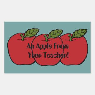 En Apple från din bra jobblyckönskan för lärare Rektangulärt Klistermärke
