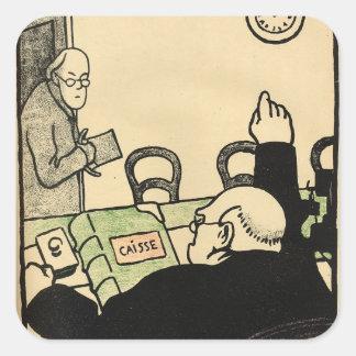 En arbetsgivare plundrar en av hans anställda fyrkantigt klistermärke