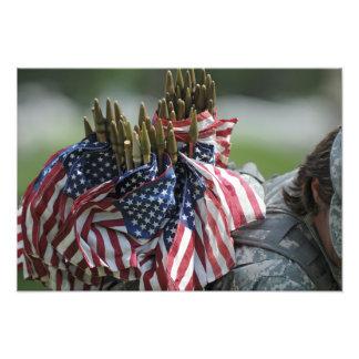 En armésoldat ryggsäck fotokonst