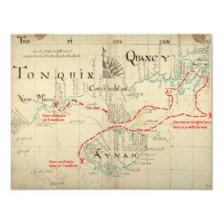 En autentisk karta för 1690 pirat (med 10,8 x 14 cm inbjudningskort