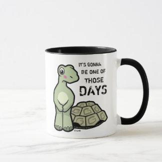 En av den gulliga sköldpaddan för de dagar mugg