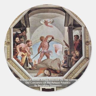 En av platserna av romersk rättvisa klistermärke