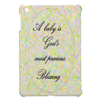 En baby är gud mest dyrbara välsignelse iPad mini mobil fodral