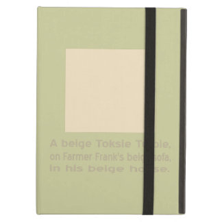 En baby beige Toksie Turbie iPad Air Fodral