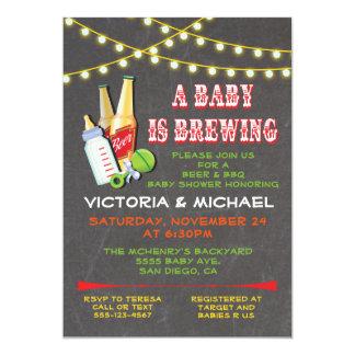 En baby bryggar baby showerinbjudningar 12,7 x 17,8 cm inbjudningskort