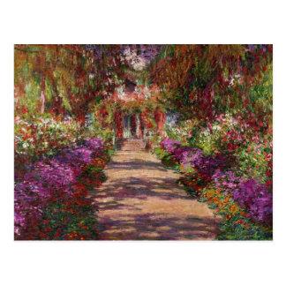 En bana i Monets trädgård, Giverny, 1902 Vykort