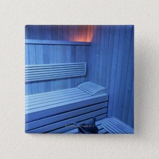 En bastu i blått tänder, Sweden. Standard Kanpp Fyrkantig 5.1 Cm