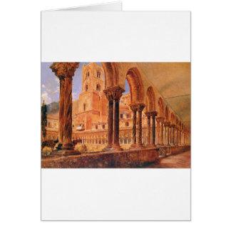 En beskåda av Monreale, ovanför Palermo Rudolf von Hälsningskort