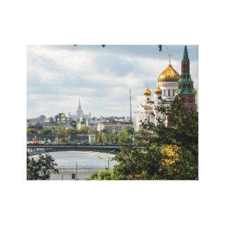 En beskåda av Moscow från Kremlinen Canvastryck