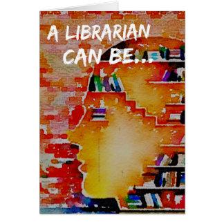 En bibliotekarie kan vara… en notecard! hälsningskort