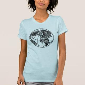 En bild av världsjordklotafrikan Asien Europa Tee Shirts