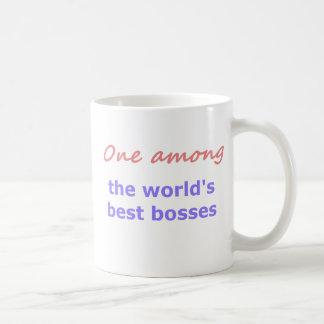 En bland bäst chefer vit mugg