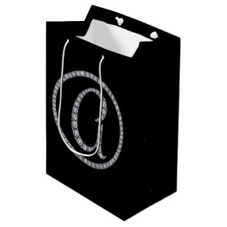 En bling gåva för Monogram hänger lös