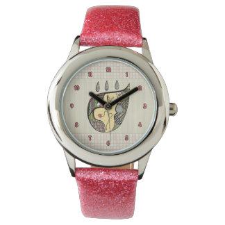 En blomma inom klockan armbandsur