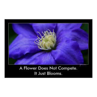 En blomma konkurrerar inte inspiration för poster
